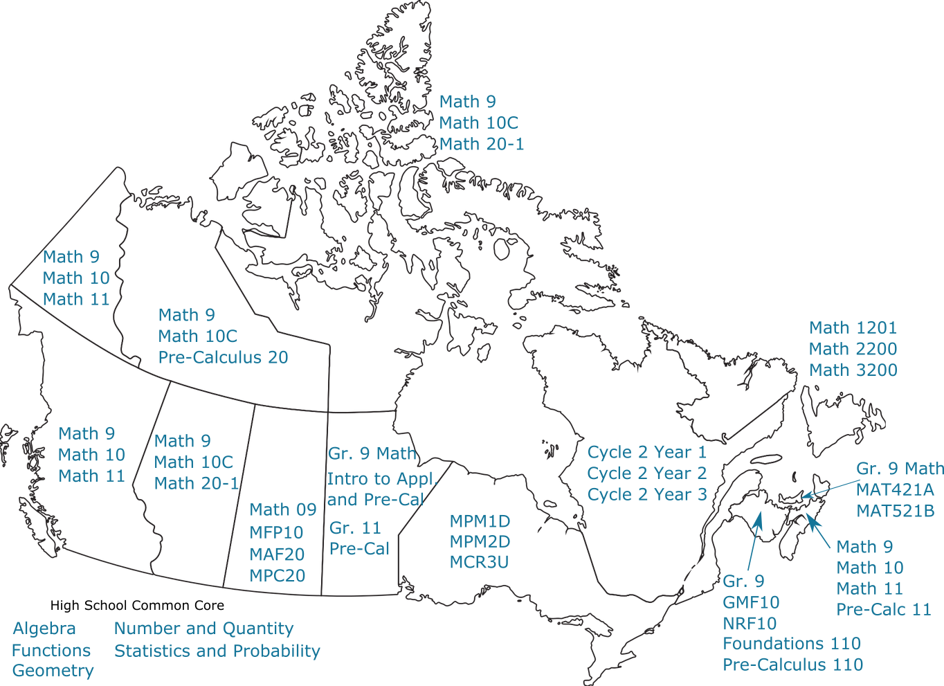 Map Of Canada Grade 9.About The Grade 9 10 11 Courseware