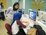 Students at a computer
